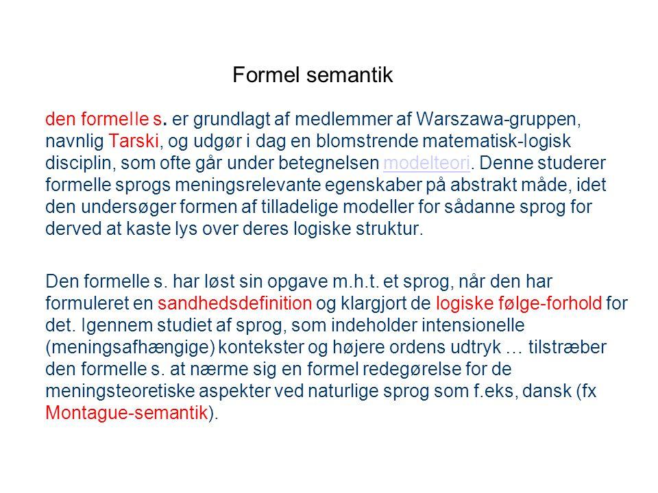 Formel semantik