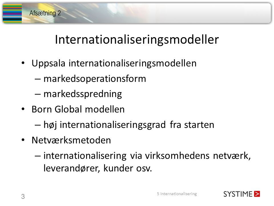 Internationaliseringsmodeller
