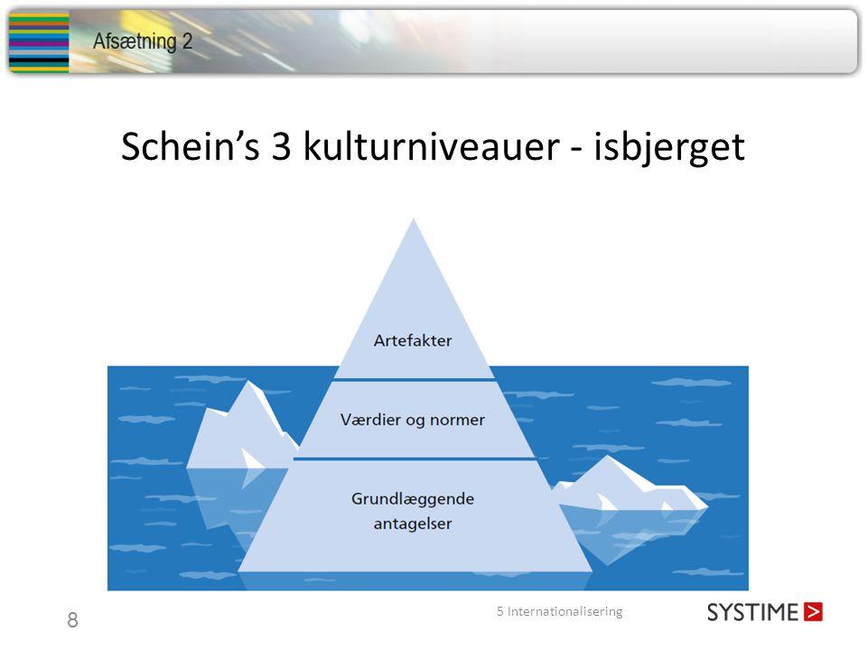 Schein's 3 kulturniveauer - isbjerget