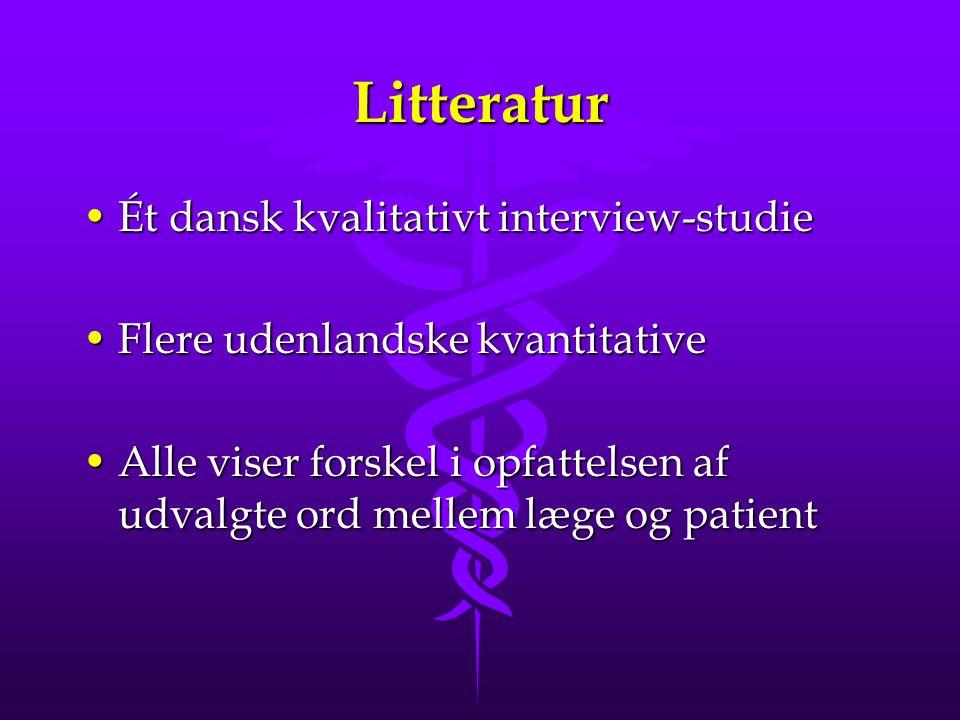 Litteratur Ét dansk kvalitativt interview-studie