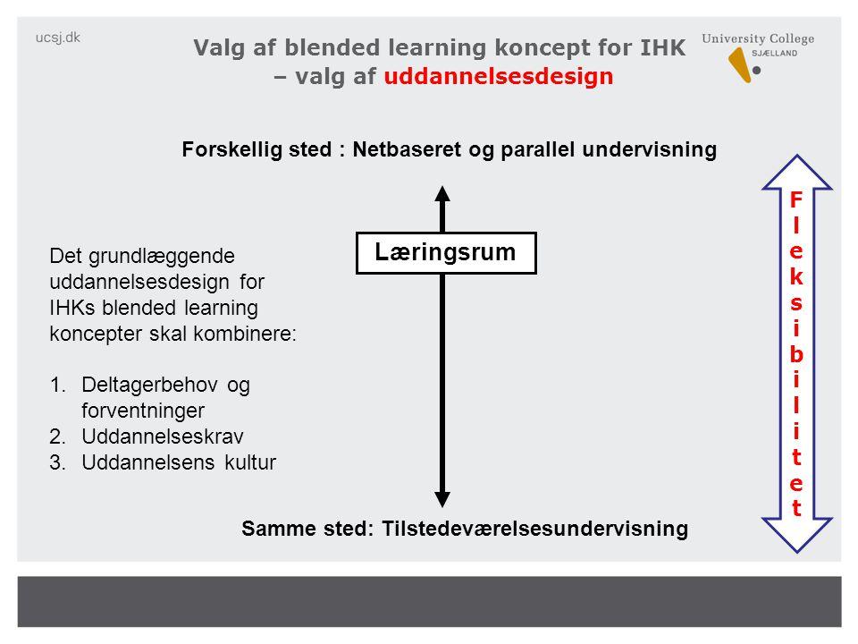 Valg af blended learning koncept for IHK – valg af uddannelsesdesign