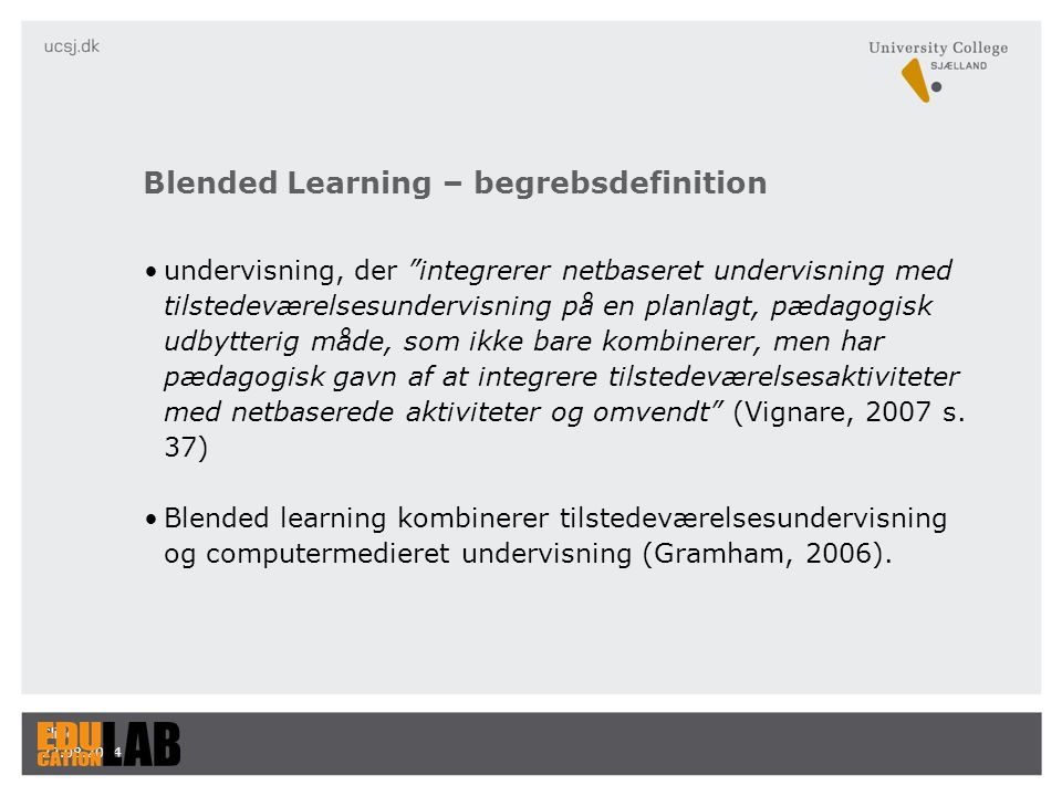Blended Learning – begrebsdefinition