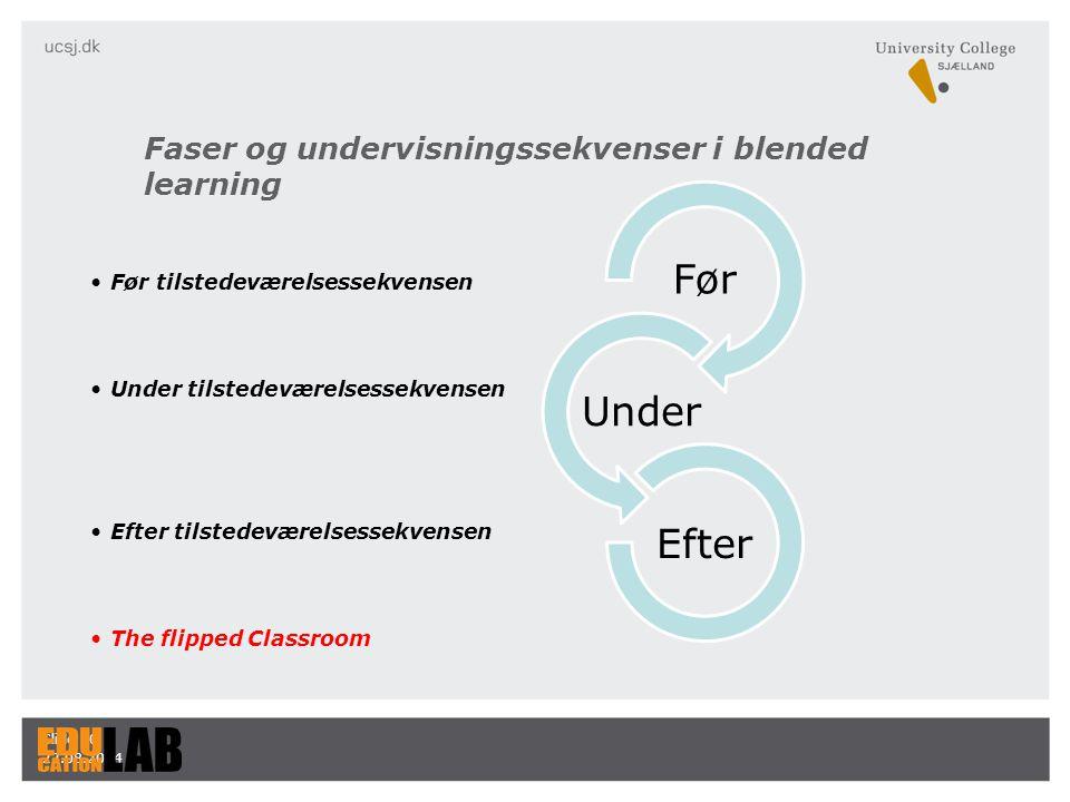 Faser og undervisningssekvenser i blended learning