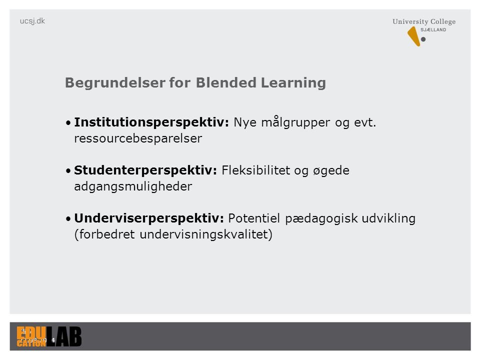 Begrundelser for Blended Learning