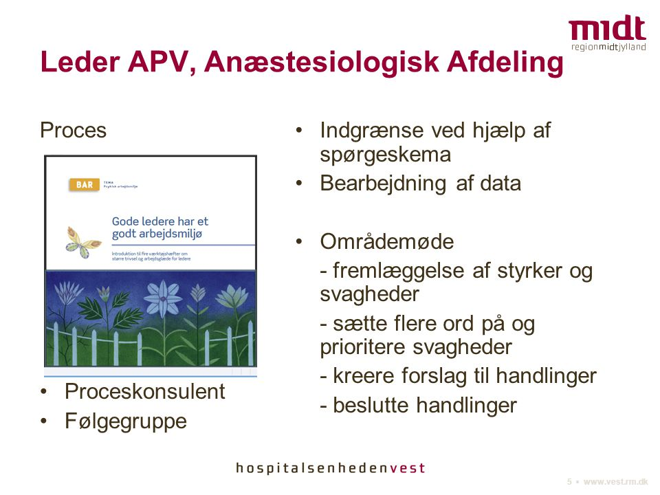 Leder APV, Anæstesiologisk Afdeling