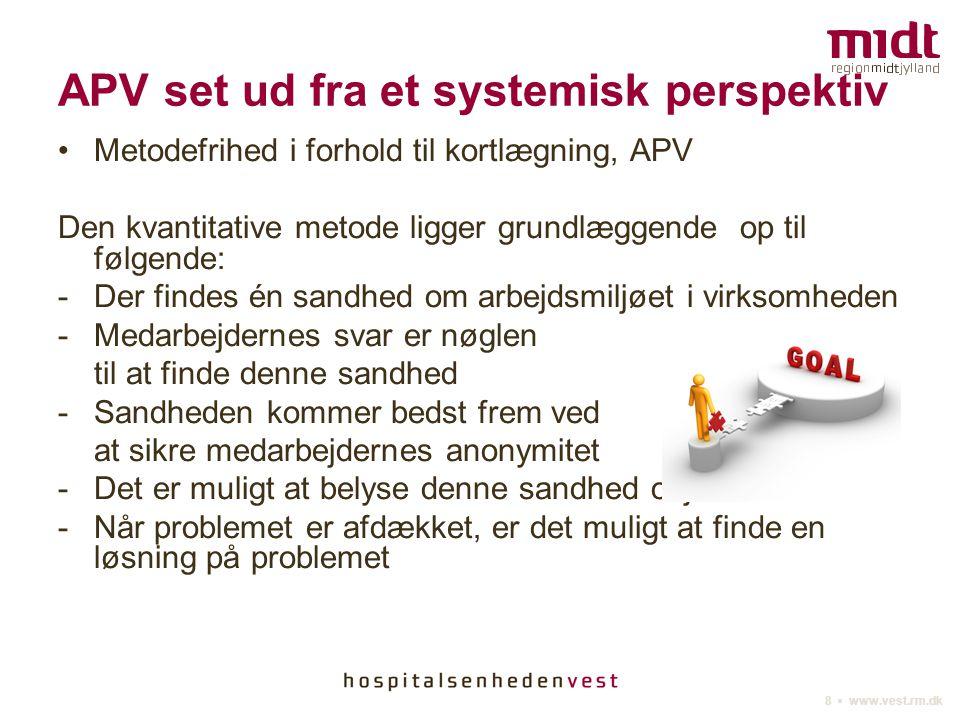 APV set ud fra et systemisk perspektiv