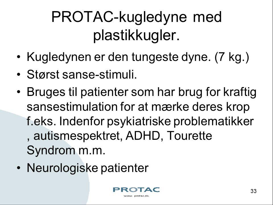 PROTAC-kugledyne med plastikkugler.