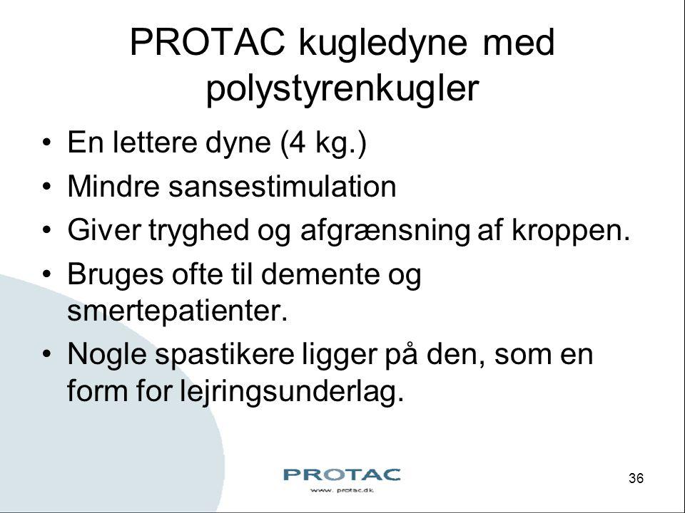 PROTAC kugledyne med polystyrenkugler