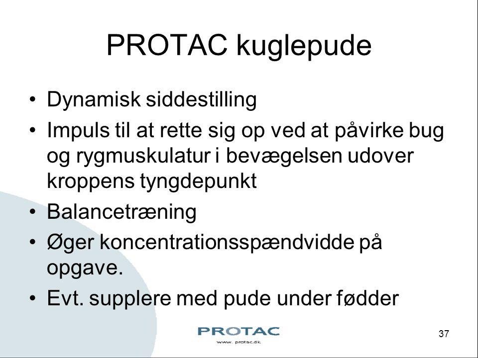 PROTAC kuglepude Dynamisk siddestilling