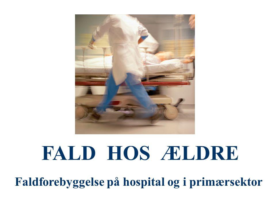 FALD HOS ÆLDRE Faldforebyggelse på hospital og i primærsektor