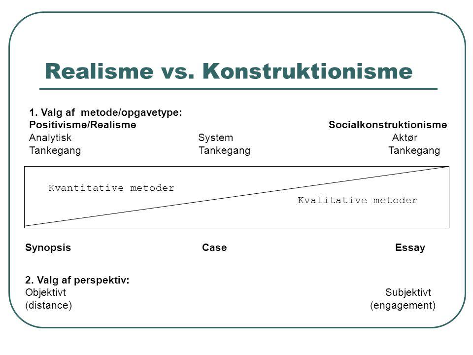 Realisme vs. Konstruktionisme