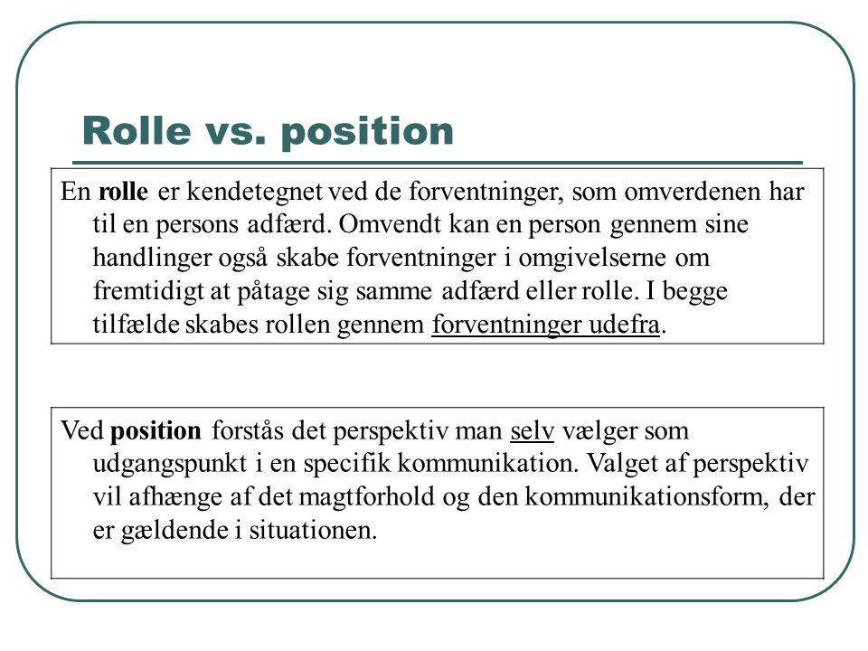 Rolle vs. position