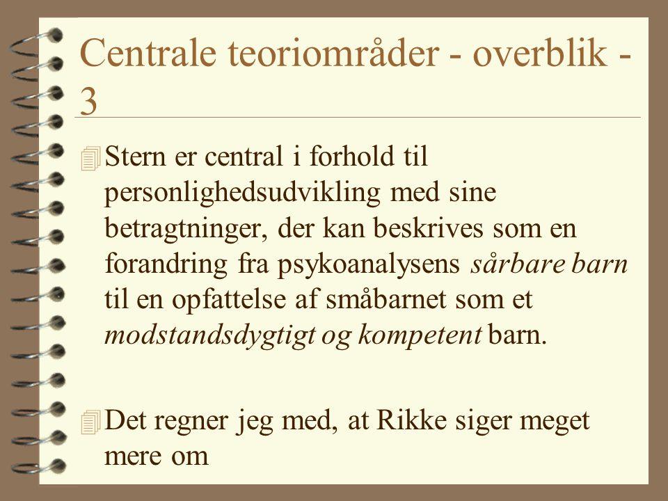 Centrale teoriområder - overblik - 3