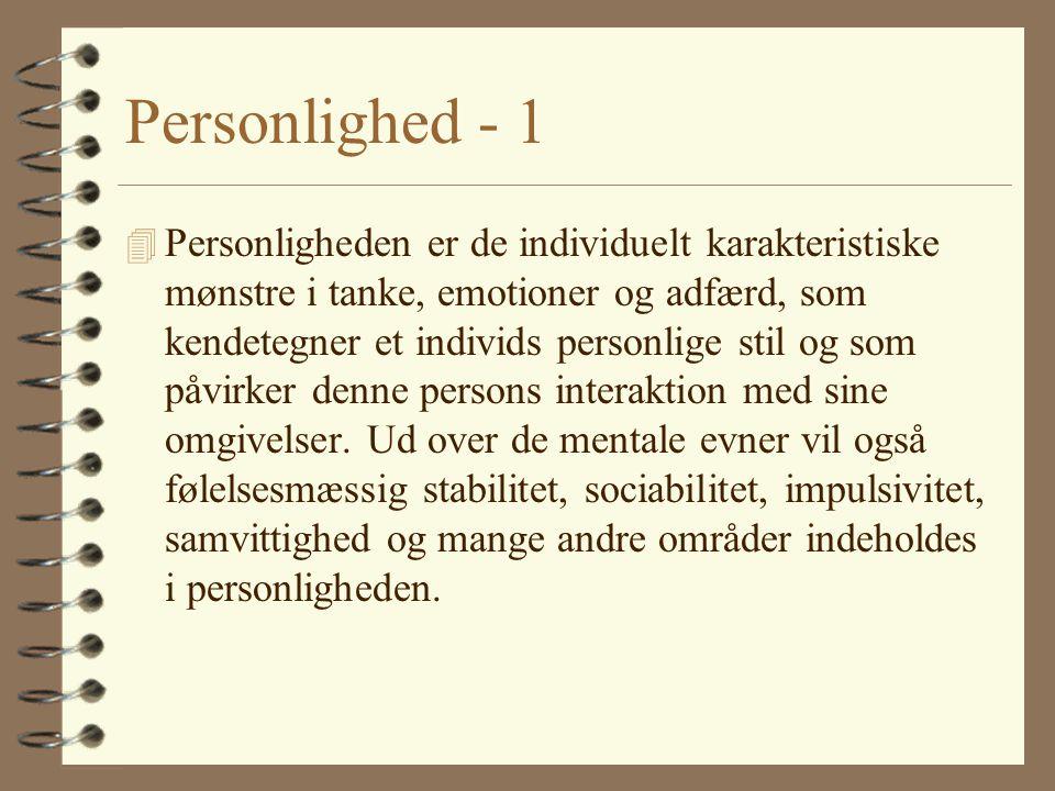 Personlighed - 1