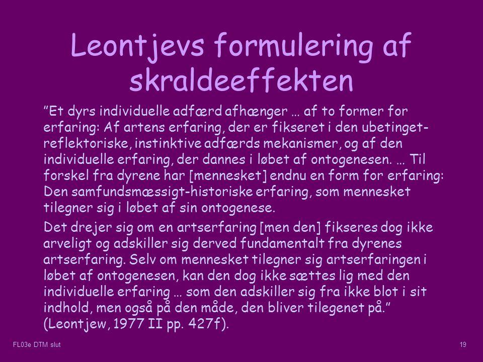 Leontjevs formulering af skraldeeffekten