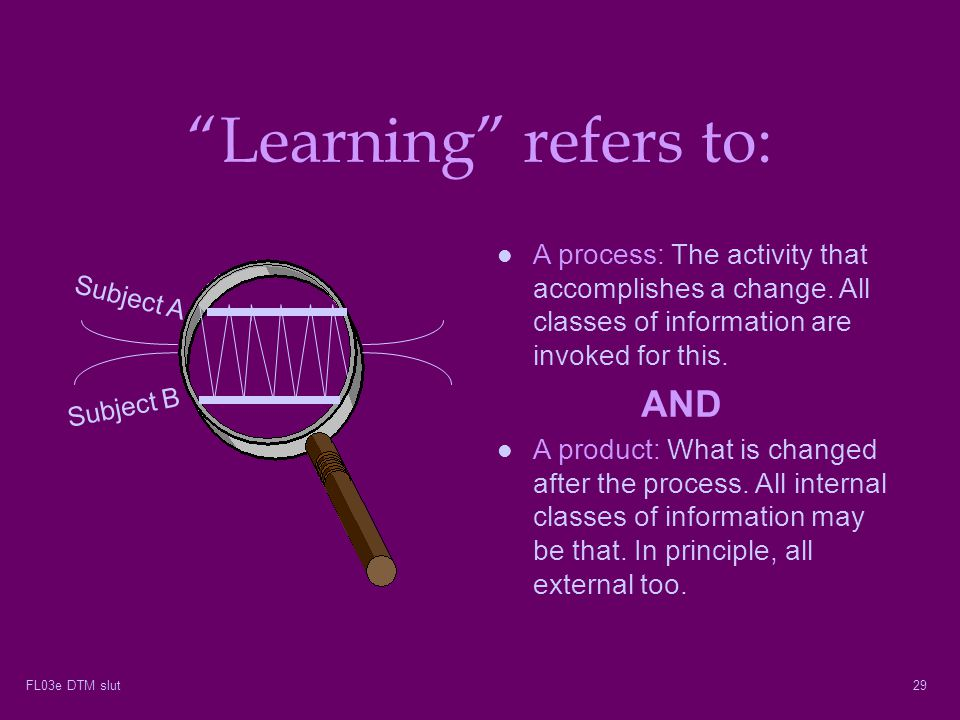 Learning refers to: AND