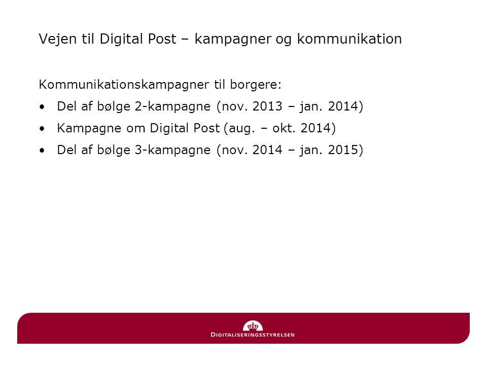Vejen til Digital Post – kampagner og kommunikation
