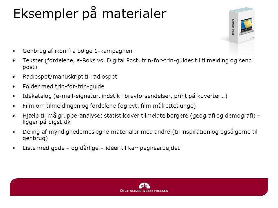 Eksempler på materialer