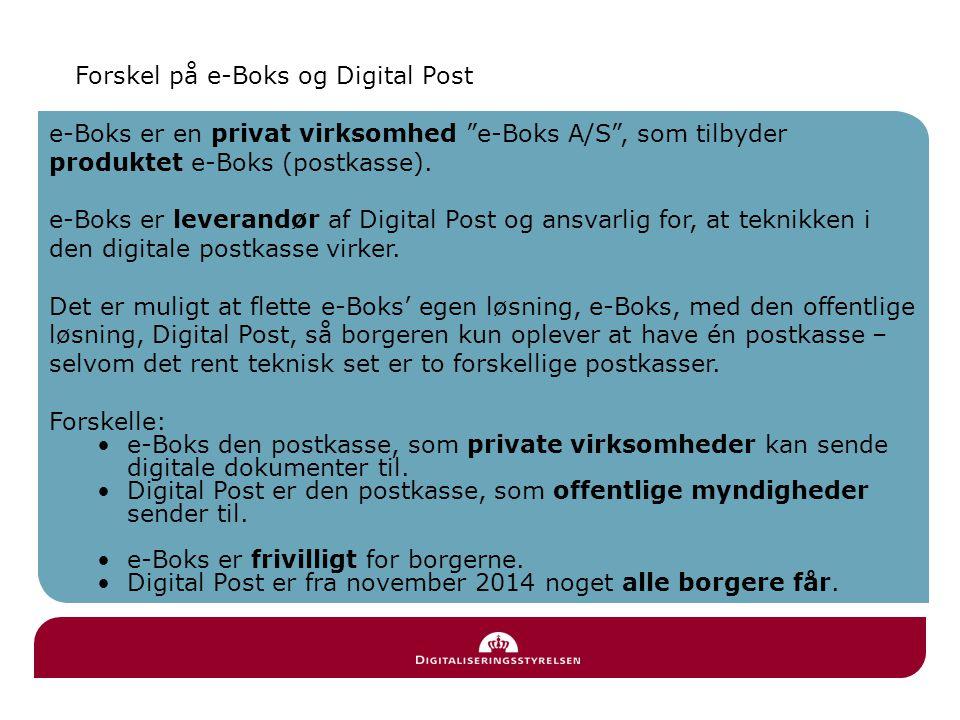 Forskel på e-Boks og Digital Post