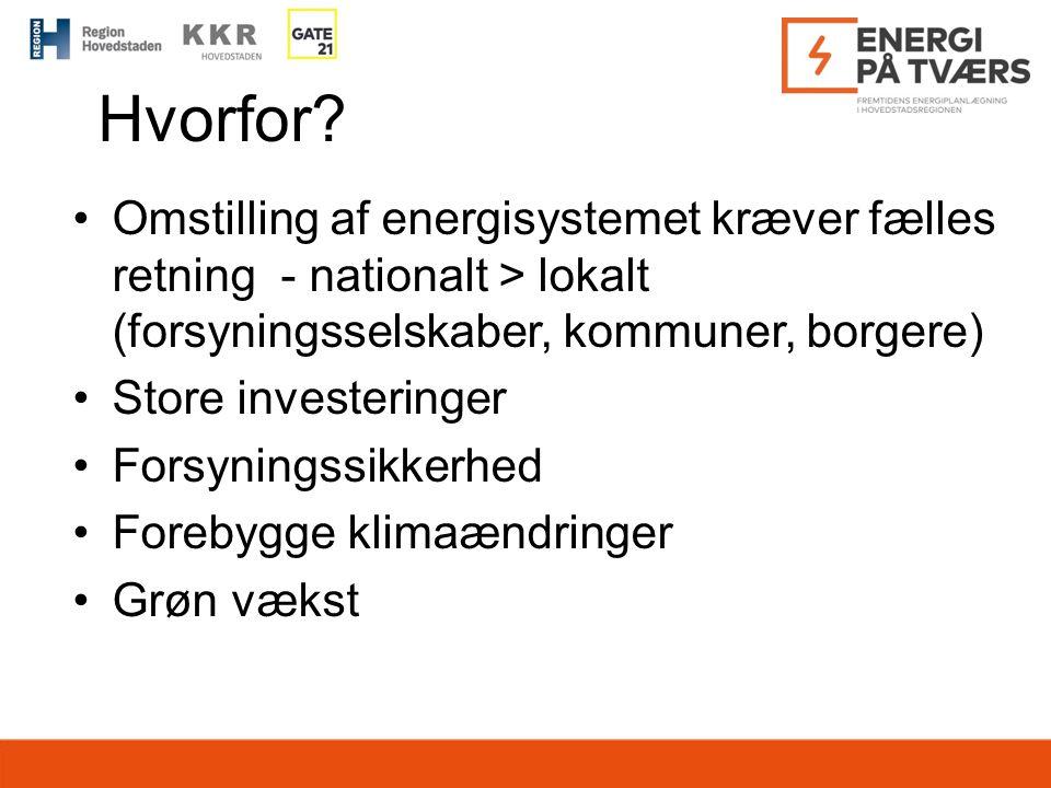 Hvorfor Omstilling af energisystemet kræver fælles retning - nationalt > lokalt (forsyningsselskaber, kommuner, borgere)