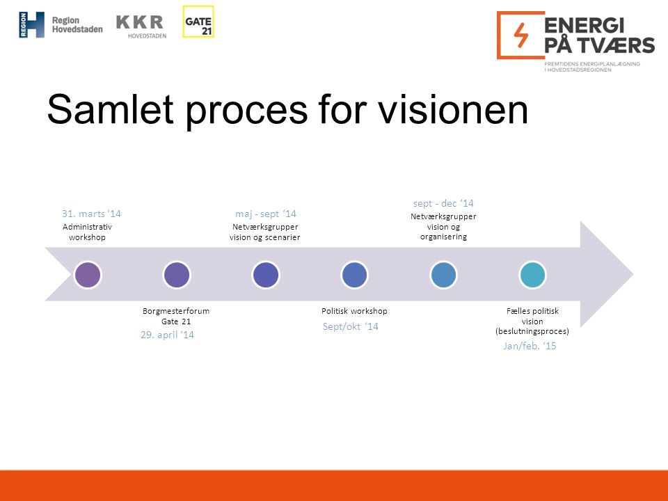 Samlet proces for visionen