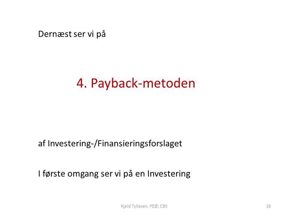 af Investering-/Finansieringsforslaget