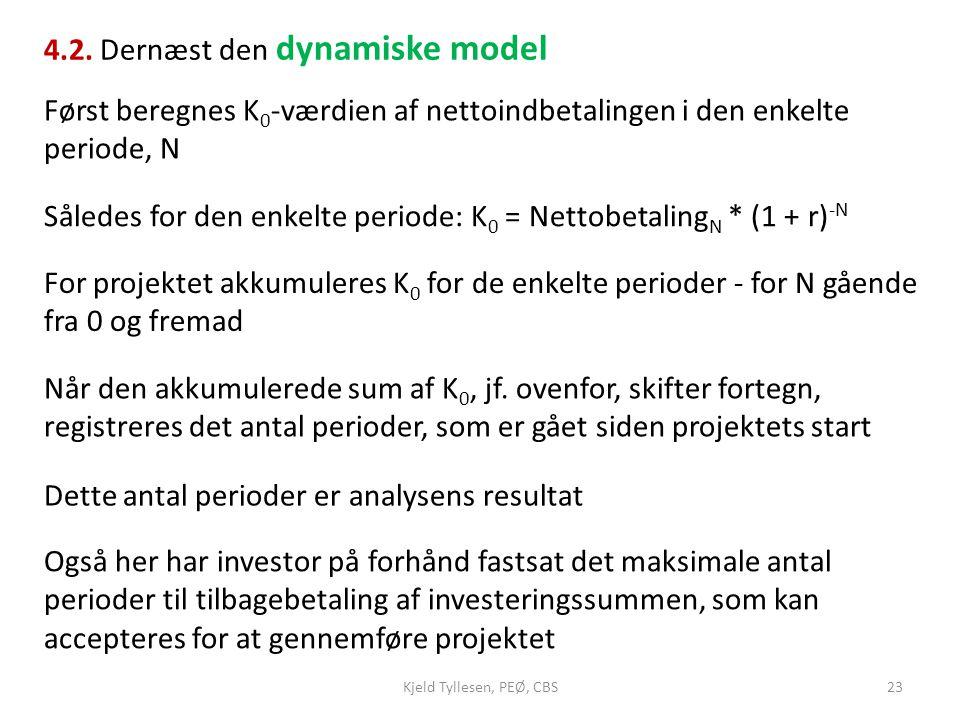 4.2. Dernæst den dynamiske model