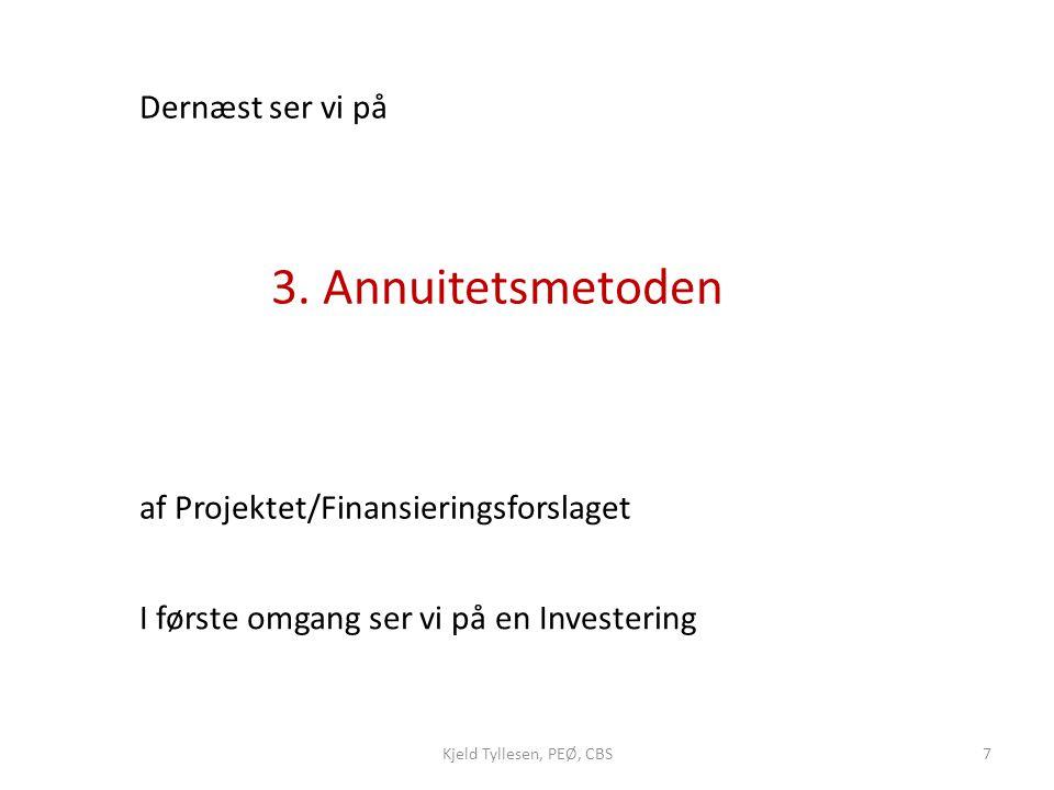 af Projektet/Finansieringsforslaget