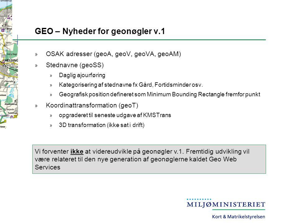 GEO – Nyheder for geonøgler v.1