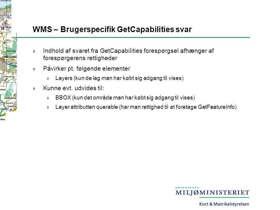 WMS – Brugerspecifik GetCapabilities svar