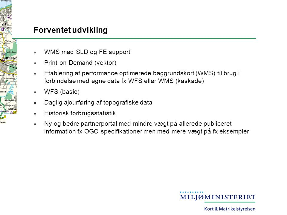 Forventet udvikling WMS med SLD og FE support Print-on-Demand (vektor)