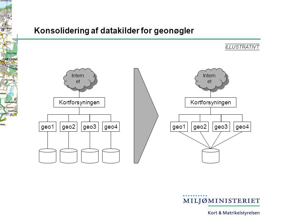 Konsolidering af datakilder for geonøgler