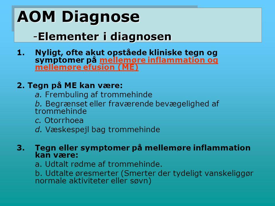 AOM Diagnose -Elementer i diagnosen