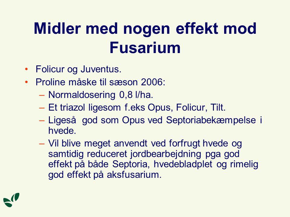 Midler med nogen effekt mod Fusarium