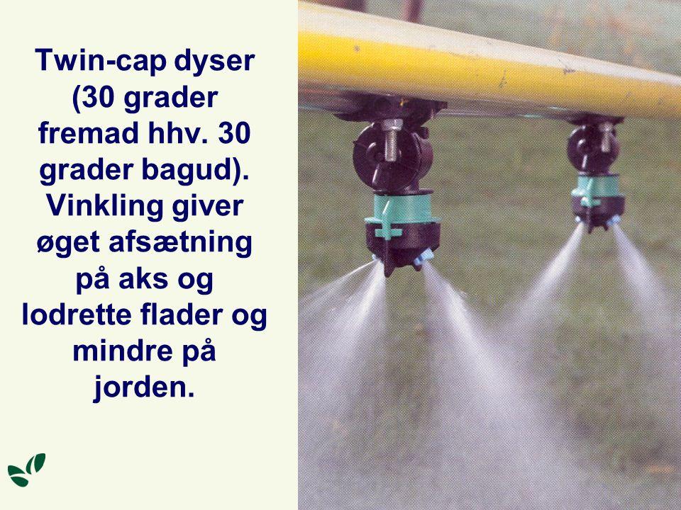 Twin-cap dyser (30 grader fremad hhv. 30 grader bagud)