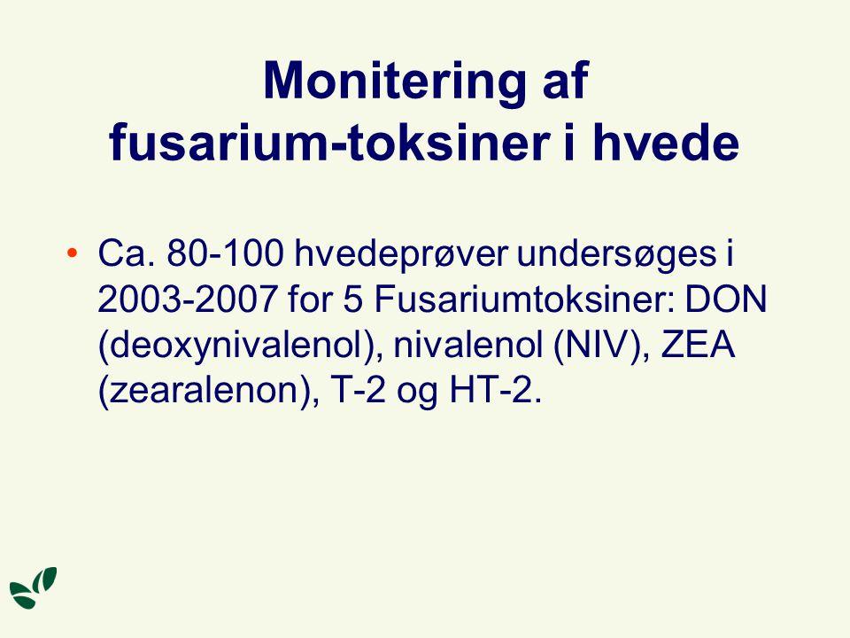Monitering af fusarium-toksiner i hvede