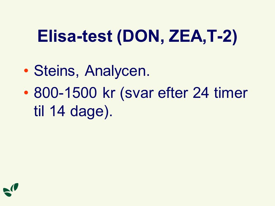 Elisa-test (DON, ZEA,T-2)