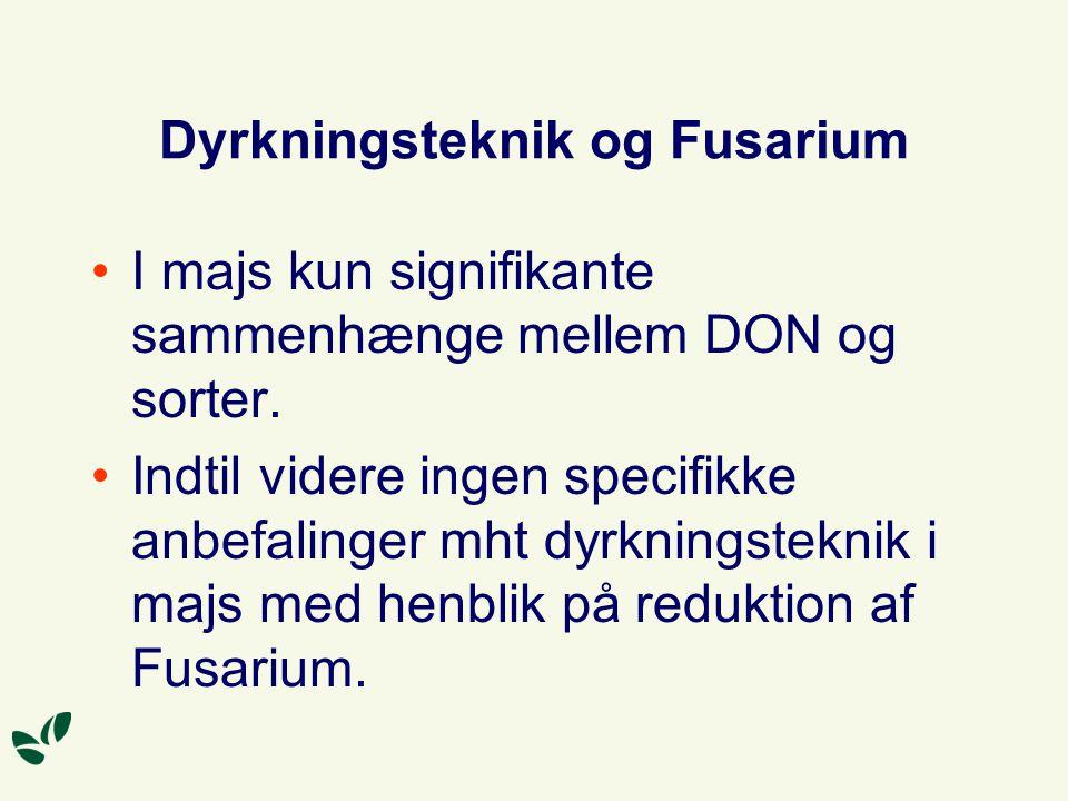 Dyrkningsteknik og Fusarium