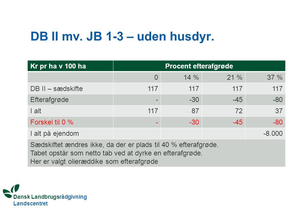 DB II mv. JB 1-3 – uden husdyr.
