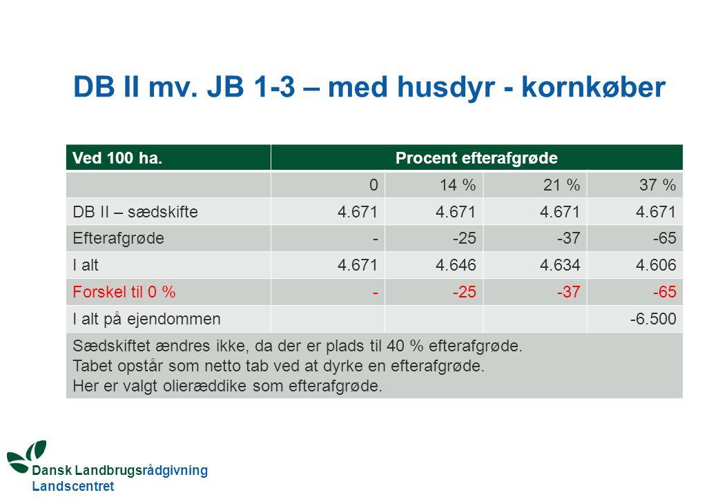DB II mv. JB 1-3 – med husdyr - kornkøber