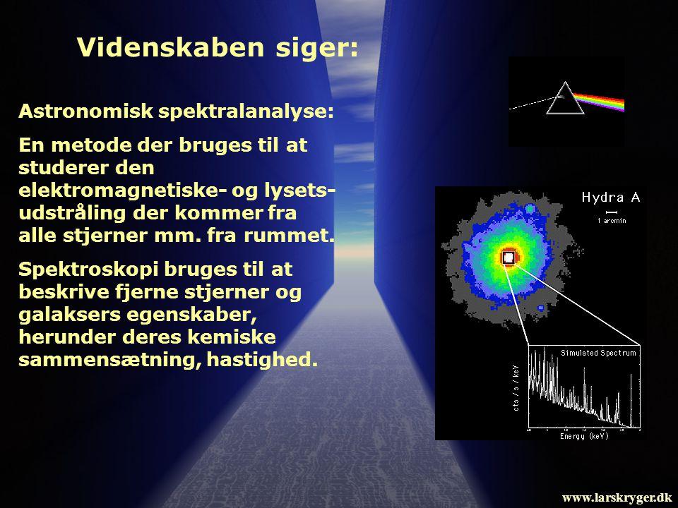 Videnskaben siger: Astronomisk spektralanalyse: