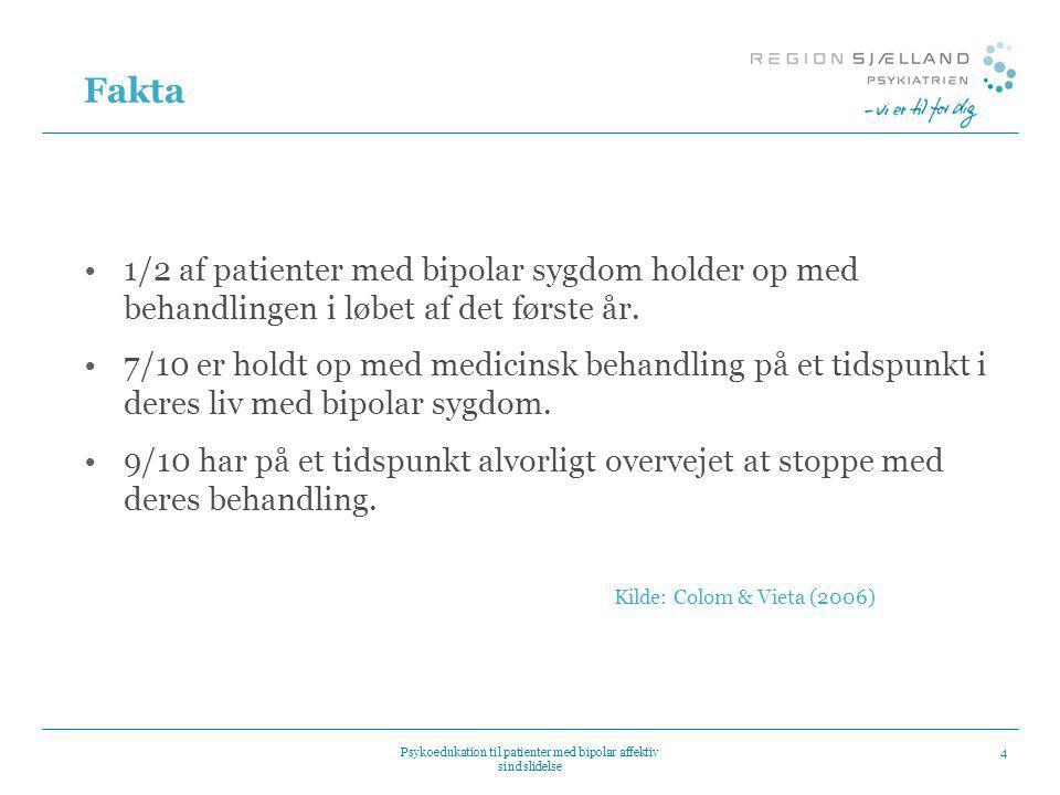 Psykoedukation til patienter med bipolar affektiv sindslidelse