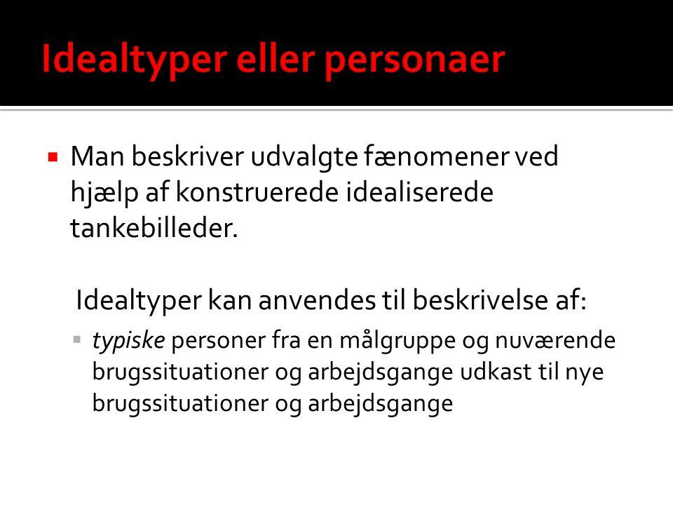 Idealtyper eller personaer
