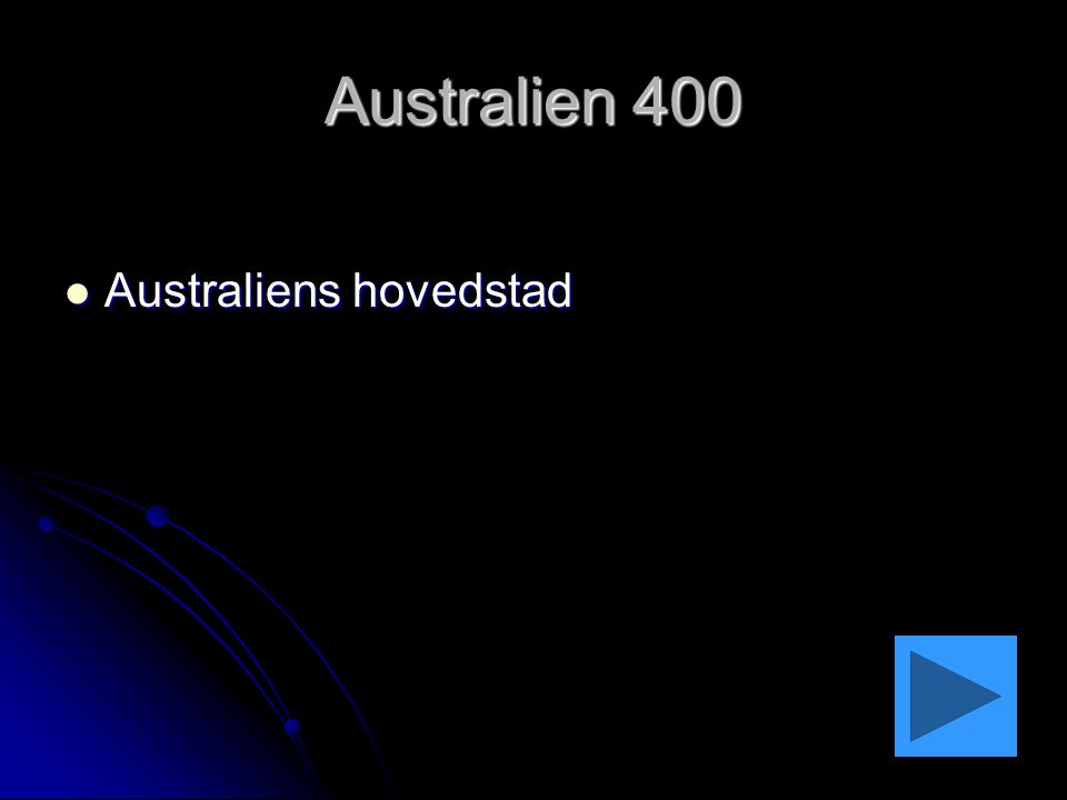 Australien 400 Australiens hovedstad