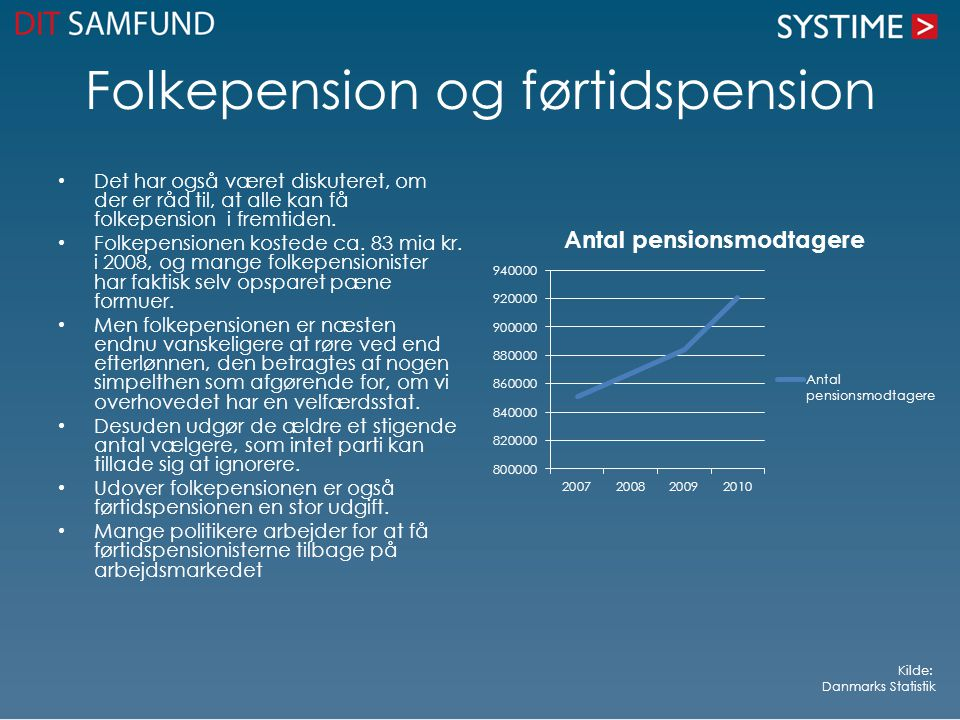 Folkepension og førtidspension