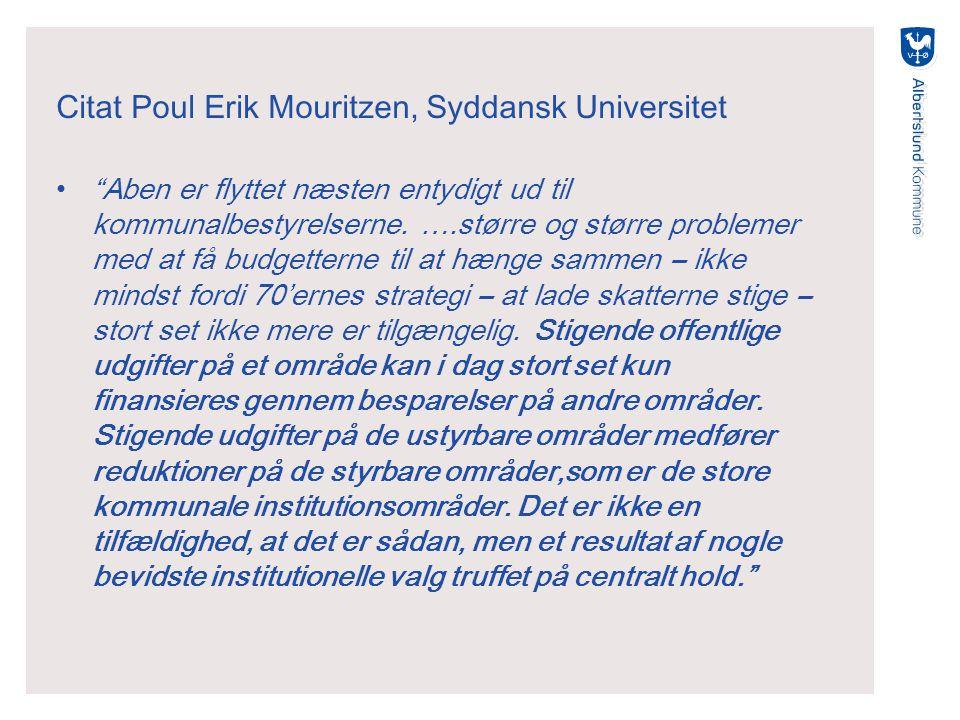 Citat Poul Erik Mouritzen, Syddansk Universitet