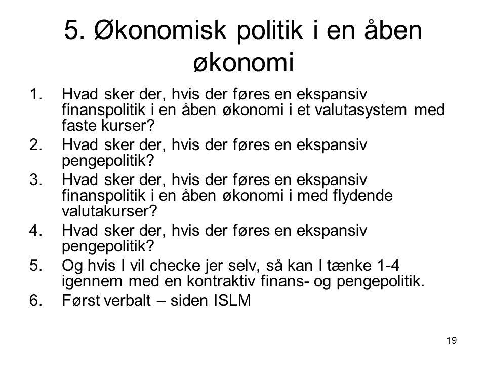 5. Økonomisk politik i en åben økonomi