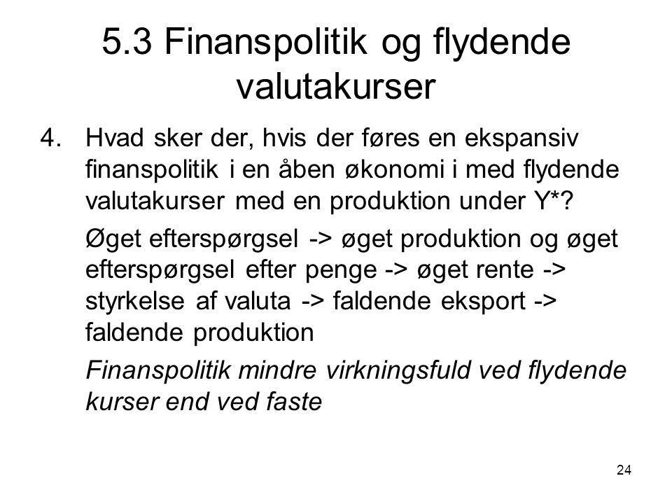 5.3 Finanspolitik og flydende valutakurser