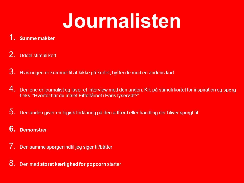 Journalisten Samme makker Uddel stimuli kort