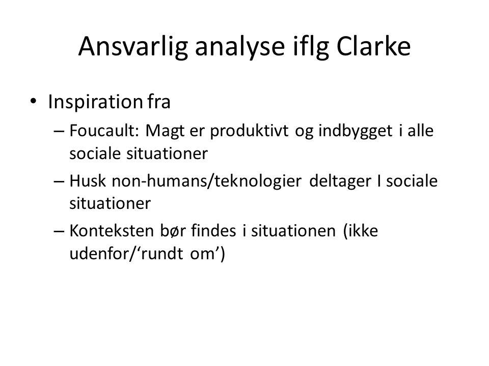 Ansvarlig analyse iflg Clarke